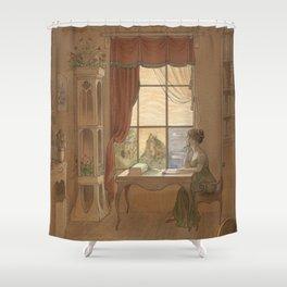 Jane Austen, Mansfield Park - the East Room Shower Curtain