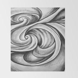 Swirl (Gray) Throw Blanket