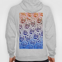 rose pattern texture abstract background in pink and blue Hoody