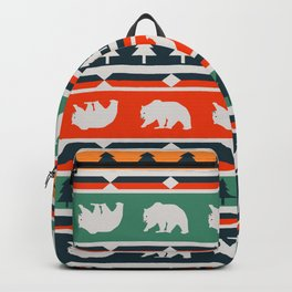 Winter bears and trees Backpack