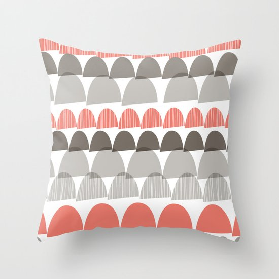 Shroom Coral Throw Pillow