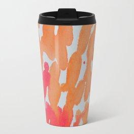 Rivets in Orange Travel Mug