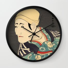 Sharaku #1 Wall Clock