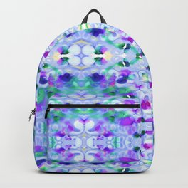 Painterly Plaid Backpack