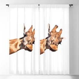 Giraffe portrait Blackout Curtain