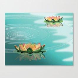 LOTO FLOWER Canvas Print