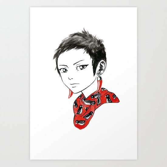 Paprika Girl Art Print
