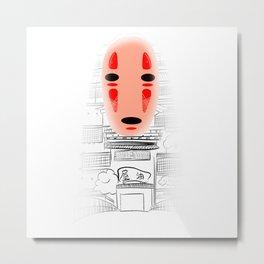No Face Kaonashi Metal Print