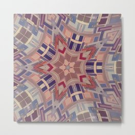 Paint chip kaleidoscope Metal Print