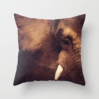 strong Throw Pillows featuring Strong by DONIKA NIKOVA - Art & Design