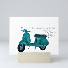 scoot on Mini Art Print