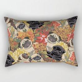 Because Pugs Autumn Rectangular Pillow
