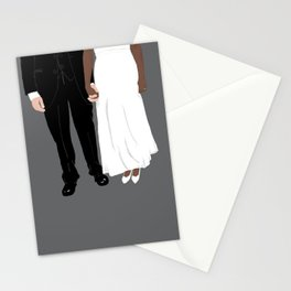 Holding Hands in Wedding Attire Stationery Cards