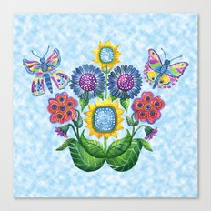 Butterfly Playground on a Summer Day Canvas Print