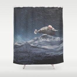 Amor de Ballena Shower Curtain
