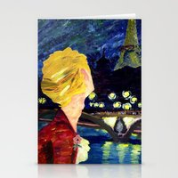 les mis Stationery Cards featuring Enjolras in Paris les mis by Pruoviare