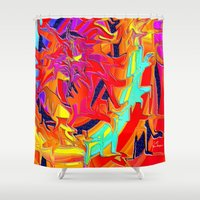 chakra Shower Curtains featuring Chakra by JT Digital Art