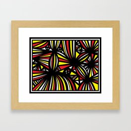 Rail Abstract Expression Yellow Red Framed Art Print