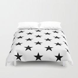 Stars (Black/White) Duvet Cover