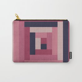 Pinkish Rectangular Squares Carry-All Pouch