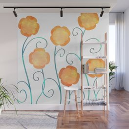 Silly Poppies Wall Mural