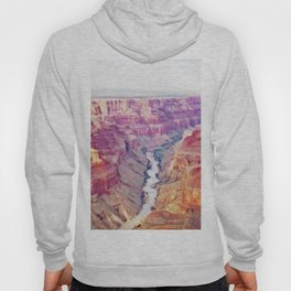 Grand Canyon Reddish Soil Eroded River Millions Years Hoody
