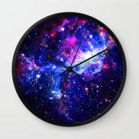galaxy Wall Clocks featuring Galaxy by Matt Borchert
