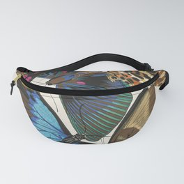 Vintage Butterfly Illustration EA Seguy Papillon Fanny Pack