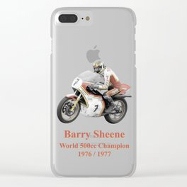 Barry Sheene 2, the hand tinted version Clear iPhone Case