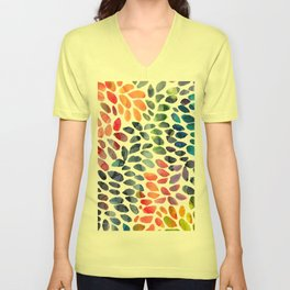 Colorful Painted Drops Unisex V-Neck