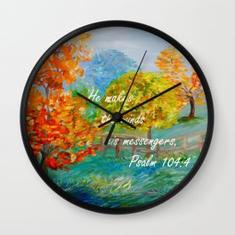He Makes the Winds His Messengers Wall Clock