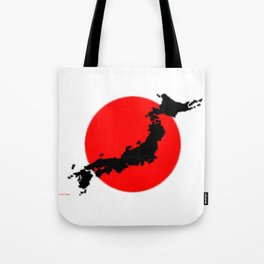 Japan Map with Japanese Flag Tote Bag