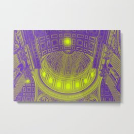 Neon Basilica Metal Print