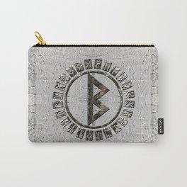 Berkana Rune and Alphabet on Birch Carry-All Pouch