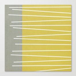 MId century modern textured stripes Canvas Print