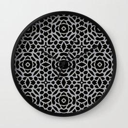 Lattice Grey Wall Clock