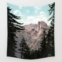 yosemite Wall Tapestries featuring South Dome, Yosemite Valley by King Mountain