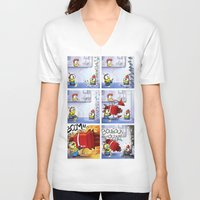 minion V-neck T-shirts featuring Minion by Duitk
