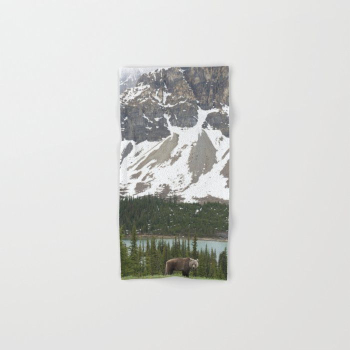 Bear in the north #society6 #buyart Hand & Bath Towel
