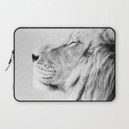 Lion Portrait - Black & White Laptop Sleeve