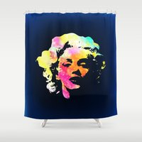 marilyn Shower Curtains featuring Marilyn by Fimbis