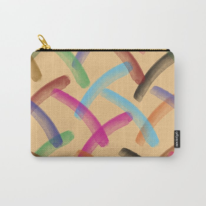 Colourful patterns Carry-All Pouch