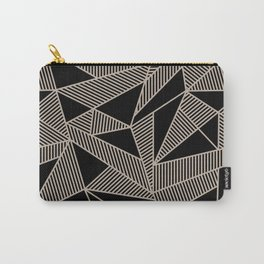 Geometric Abstract Origami Inspired Pattern Carry-All Pouch