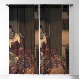 Johannes Vermeer - A Girl Asleep Blackout Curtain