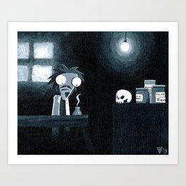 The Mad Scientist Art Print