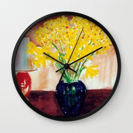 Daffodils  and Jonquils             by      Kay Lipton Wall Clock