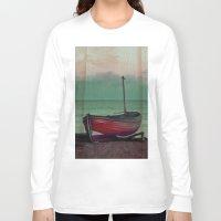 sailboat Long Sleeve T-shirts featuring Sailboat by Regan's World