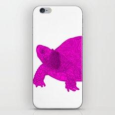 Turtle Illustration Pink iPhone & iPod Skin