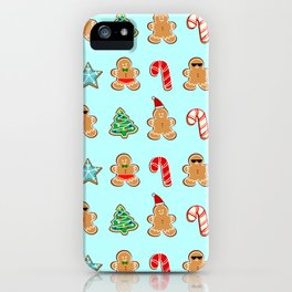Naughty or Nice Gingerbread iPhone Case