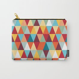 Geometric Color #abstract #bright #triangles Carry-All Pouch